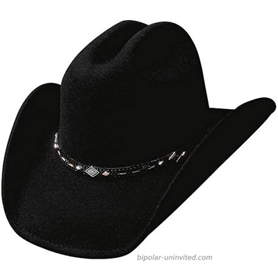 Bullhide Hats Wagoneer Felt Western Cowboy Hat 0327BL at  Men's Clothing store