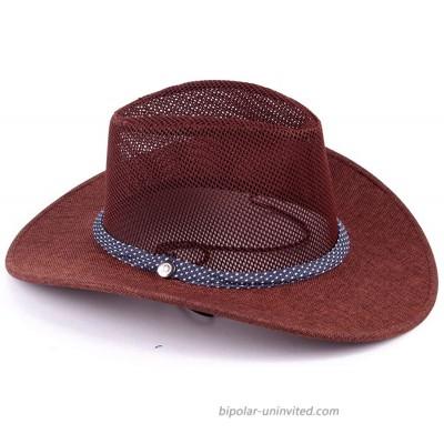 Mesh Cowboy Hat - Cowboy Hats Beach Hats Outdoor Cowboy Hat Western Cowboy Hat Mesh Sun Hat for Men Brown at  Men's Clothing store