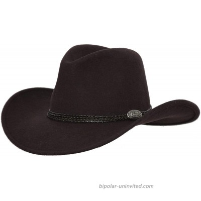 Outback Trading Company Men's 1307 Shy Game Water-Repellent Crushable UPF 50 Australian Wool Western Cowboy Hat