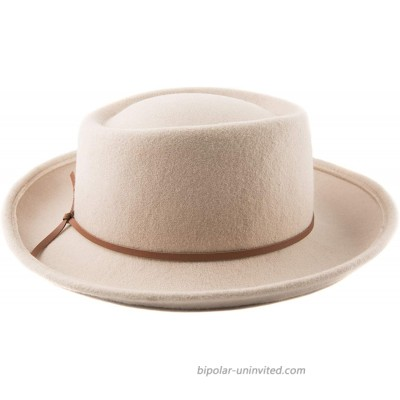 Accessorama 100% Wool Fedora Hats for Women Bucket Caps with Roll-up Brim Fashion Hats for Fall Winter