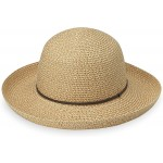 Wallaroo Hat Company Women's Amelia Sun Hat – UPF 50+ Lightweight Packable Modern Style Designed in Australia Natural at Women's Clothing store