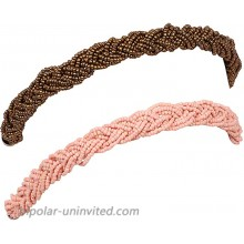 ASHI'S Collection Braided Headband Bohemian Style Elastic Band fit to Head Available in Combo Pack for Women and Girls!!