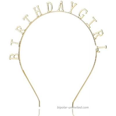 Happy Birthday Headband Headpiece Birthday Headband Decorations Gold