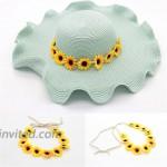 LD DRESS Women Bohemian Floral White Daisy Flower Elastic Headband Headpieces Yellow White