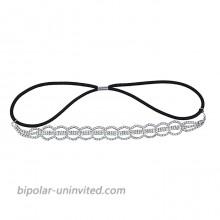 Lux Accessories Silvertone Cupchain Circle Pattern Headband Bridal Headband