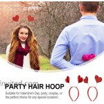 PIXNOR Red Heart Headband Glitter Head Bopper Valentines Day Hair Accessories Party Headwear Holiday Costume Headpiece For Holiday Party Props Party Favors Red 4pcs at Women's Clothing store