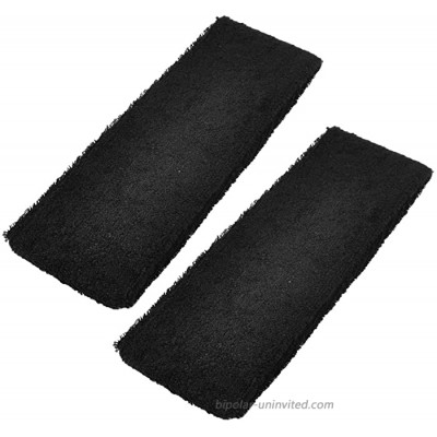 uxcell a13052100ux0231 Runner Exercise Protective Elastic Sweat Absorbent Head Band Black Pack of 2