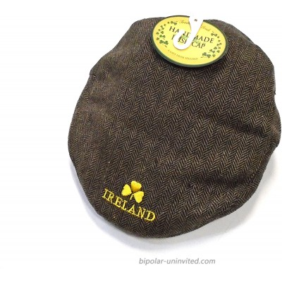 Connemara Ireland Golfer's Brown Tweed Wool Patchwork Cap…