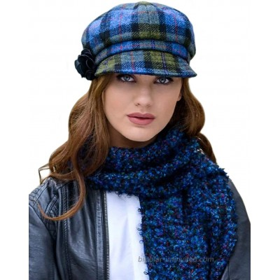 Green Plaid Ladies Newsboy Hat Made in Ireland One Size Fits Most at  Women's Clothing store