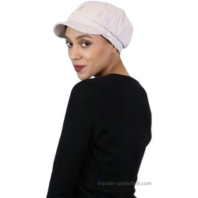 Newsboy Cap for Women Summer Hats Chemo Headwear Ladies Head Coverings Linen Blend Tweed Cabbie London TAN Tweed at  Women's Clothing store