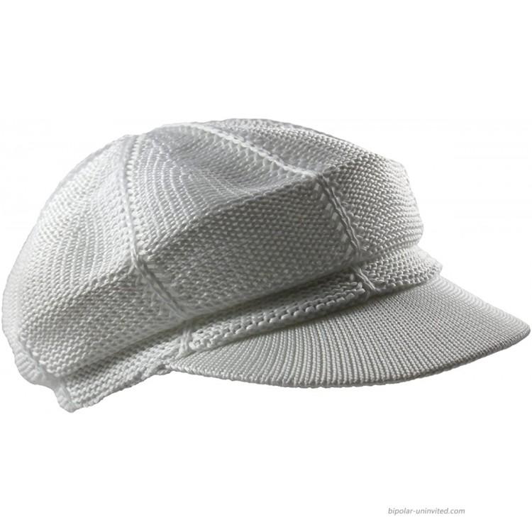 NY Summer Mesh Newsboy Cap White at Men's Clothing store
