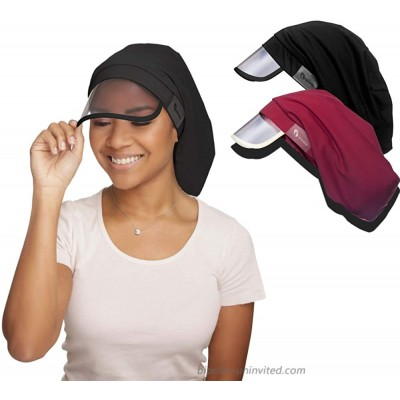 Hairbrella XL Women's Rain Hat Waterproof Sun Protection Satin-Lined Packable for Voluminous and Long Hair Multi XL at  Women's Clothing store