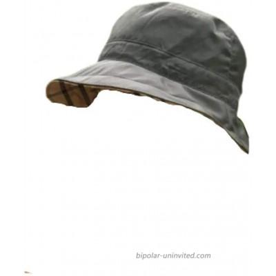 Rain Rainraps Raincaps Hat Reversible Black with Plaid at  Women's Clothing store