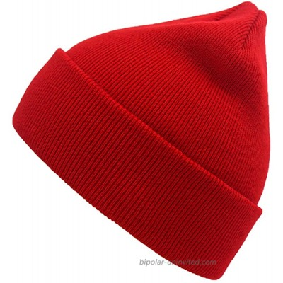Acrylic Beanie Knit Hat Winter Knitted Cap Stocking Hat Skull Cap for Men and Women Red at  Men's Clothing store