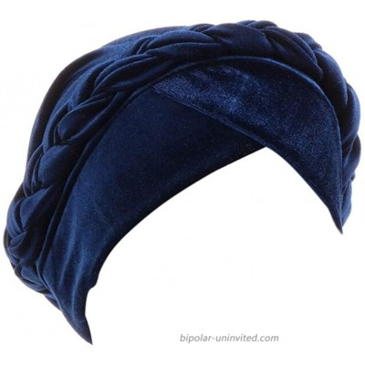beauty YFJH Turban Headwraps Caps for Women - Pre-Tied Braid Twist Velvet Caps Chemo Hats for Cancer Headwear Navy Blue at  Women's Clothing store