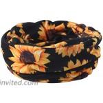 Biruil Women's Cotton Beanie Turban Sleep Cap Chemo Hats Headband Scarf Soft Slouchy Hair Cover 2 Pack Sunflower Navy at Women's Clothing store