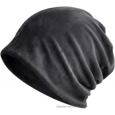 KUYOU Women's Multifunction Pure Velvet Pattern Hat Skull Cap Scarf Grey at  Women's Clothing store