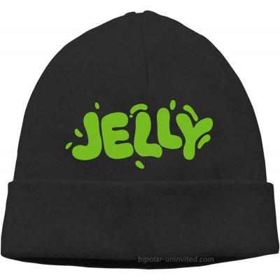 Mipruct Jelly Green Merch Beanie Cap Skull Knitting Hat Warm Winter Hedging Men Women Black Thin at  Men's Clothing store