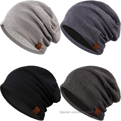 Syhood 4 Pieces Slouchy Beanie Hat Oversized Skull Cap Winter Warm Knitted Hat for Women Men Winter Accessories at  Men's Clothing store