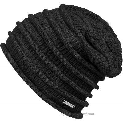 Thin Slouchy Beanie for Men and Women - Chunky Knit Style - 100% Cotton - BE10 Charcoal at  Women's Clothing store
