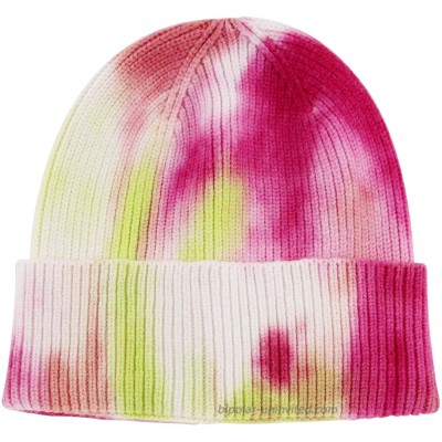 UIEGAR Tie Dye Beanie for Soft Women Winter Knitted Hat Skull Cap Pink and Yellow at  Women's Clothing store