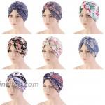 Women's Turban Cotton Double Layer Satin Liner Chemo Cap Flower Print Beanie Head wrap Cap Sleep Bonnet at Women's Clothing store