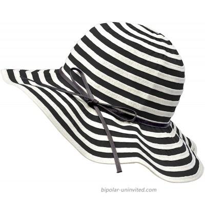 Beach Hats for Women Lightweight Packable Breton Sun Hat UPF 50+ Adjustable Wide Brim Summer Beach Sun Hats Black at  Women's Clothing store