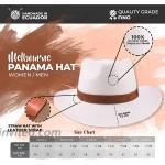 Cuenca Panama hat - 100% Natural fibers - Big Brim 7.5 cm - Hand Made in Ecuador - Quality Grade FINO at Women's Clothing store