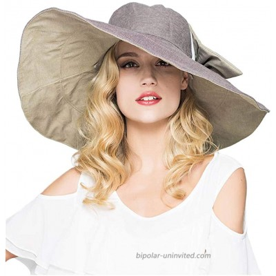 Packable Reversible Large Brim Floppy Sun Hat UPF 50 Sun Protection Travel Beach Hat at  Women's Clothing store