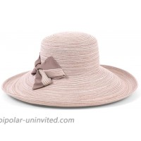 Physician Endorsed Women's Southern Charm Packable Adjustable Sunhat with Bow Rated UPF 50+ for Max Sun Protection Café Au Lait at  Women's Clothing store