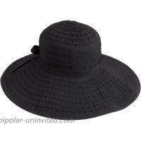 San Diego Hat Company Women's Ribbon Large Brim Hat Black One Size at  Women's Clothing store Sun Hats