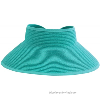 San Diego Hat Company Women's Ultrabraid Visor with Ribbon Binding and Sweatband Teal One Size at  Women's Clothing store