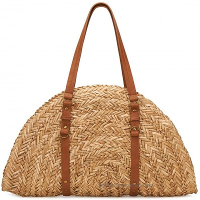 San Diego Hat Company Women's Woven Straw Crescent Shaped Bag Natural One Size at  Women's Clothing store