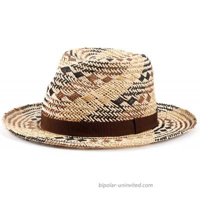 Straw Hat Panama Hats Sun Straw Fedora Summer Beach Hat Fine Braid UPF for Women and Men