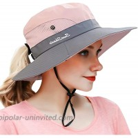 Sun Hats for Ponytail Hole Women with UV-Protection Pink at  Women's Clothing store