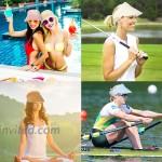 Women Straw Sun Visor Hat Roll Up Hat Beach Hats for Women Wide Brim Visors for Women Men UPF 50+ Running Golf Visor Beige at Women's Clothing store