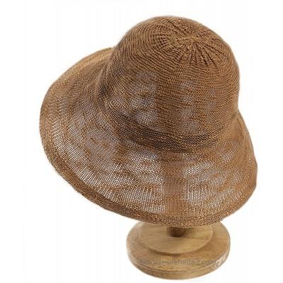 Women Sun Protection Floppy Hats Bucket Hat Wide Brim Packable Summer Beach Outdoor UPF 50+ Khaki 04
