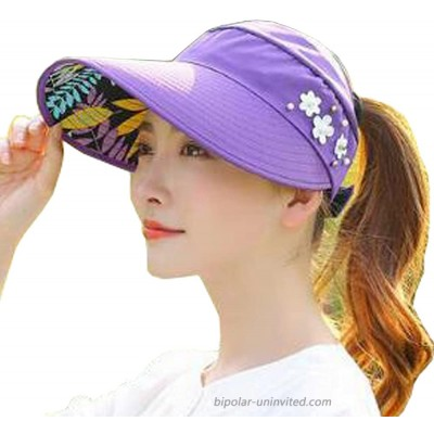 YEKEYI Sun Hats Women Summer Hat Outdoor UV Protection Wide Large Brim Cap Beach Visor Caps Foldable Nave Purple at  Women's Clothing store