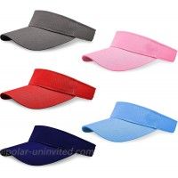 5 Pack Women and Men Sun Sports Visor Hats One Size Adjustable Cap at  Women's Clothing store
