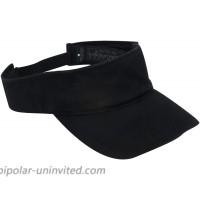 Dorfman Pacific Co. Men's Garment Washed Twill Visor Black One Size at  Men's Clothing store Visors Headwear