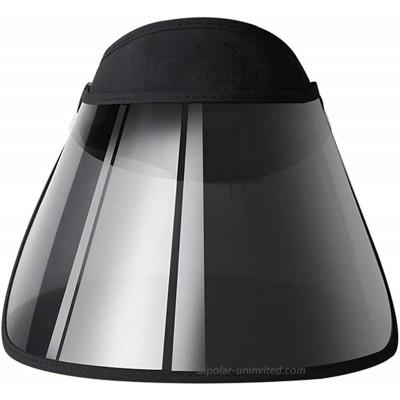 Face Shield Protector Sun Visor Hat Cap UV Protection - Premium Adjustable Solar Headband Black Flat 1 Pack