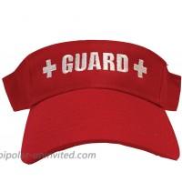 Guard Red Visor - Sun Protection Beach for Women Men & Kids at  Women's Clothing store
