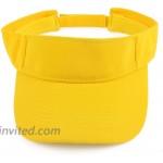 Melesh Plain Men Women Sport Headband Sun Visor Adjustable Athletic Sportswear Runing Outdoor Hat Cap Yellow at Women's Clothing store