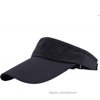 moonsix Sun Visor Cap for Man for Woman Outdoor Sport Cap Wide Brim Adjustable Visor Golf Hat Black at  Women's Clothing store