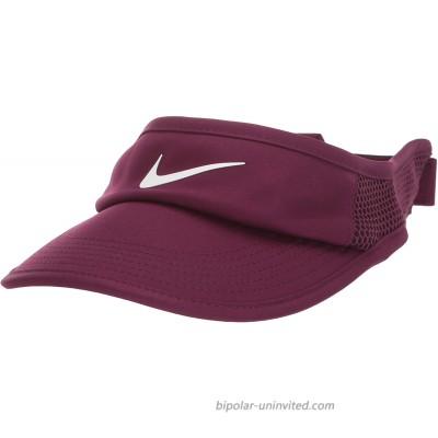 Nike Women's Arobill Featherlite Visor Adjustable Bordeaux White Misc