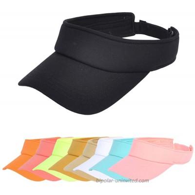 NTLWKR Sun Visor Hat Adjustable Velcro Outdoor Sports Cap for Men Women Adults at  Women's Clothing store