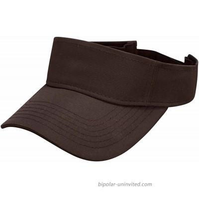 Ouray Sportswear Performance Visor Black Adjustable