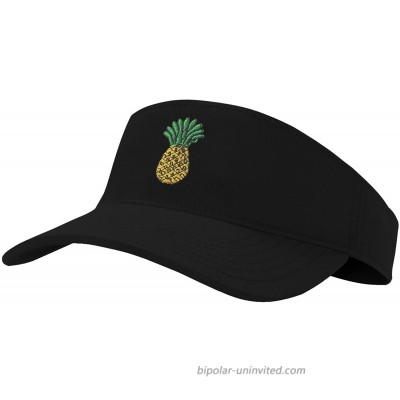 Sun Pineapple Visor Hat Classic Unisex 100% Cotton Cool Sporting Visor with Small Embroidery - Best Visor for Running Workouts and Outdoor Activities 1 Pineapple Large at  Women's Clothing store