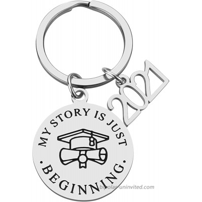 2021 Graduation Gift - My Story Is Just Beginning Inspirational Keychain College High School Graduation Gifts for Her Him Grad Gifts for Women Men Boys Girls Daughter Son Graduates at  Women's Clothing store
