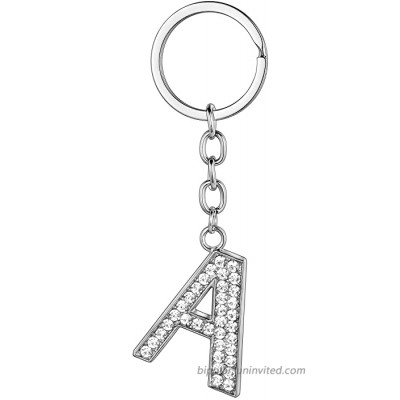 BESPMOSP A-Z Initials Letter Keychain Best Friend Gift Keychains for Women Shiny Crystal Keyring Birthday Gifts A